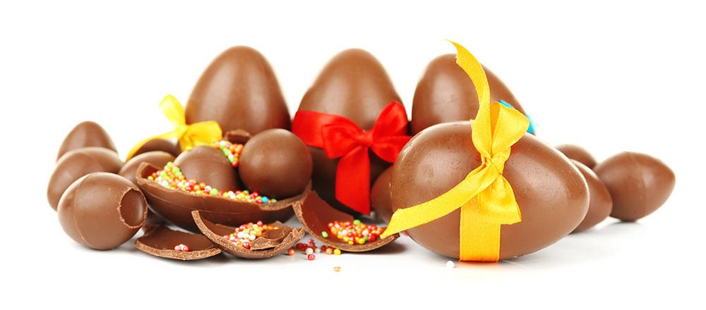 Produzione uova di cioccolato