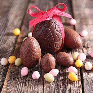 Uova Pasquali di cioccolata